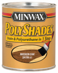 Minwax The 219854444 1/2-Pint Low-VOC Satin Mission Oak Polyshades