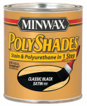 Minwax The 219954444 1/2-Pint Low-VOC Satin Classic Black Polyshades