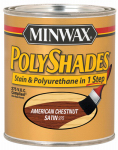 Minwax The 619750444 1-Quart Low-VOC Satin American Chestnut Polyshades