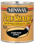 Minwax The 619950444 1-Quart Low-VOC Satin Classic Black Polyshades