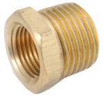 Anderson Metals 756110-0402 Pipe Fitting, Brass Hex Bushing, Lead Free, 1/4 x 1/8-In.