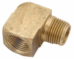 "Anderson Metals 756116-04 1/4"" Brass Street Elbow"