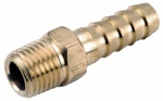 Anderson Metals 757001-0804 Pipe Fittings, Barb Insert, Lead-Free Brass, 1/2-Hose x 1/4-In. MPT