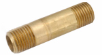 Anderson Metals 736113-0432 1/4x2 Yellow Brass Nipple
