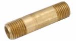 Anderson Metals 736113-0624 3/8x1-1/2YEL Brass Nipple