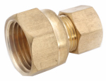 Anderson Metals 750097-0806 Pipe Fitting, Adapter, Lead-Free Brass, 1/2 Female Compression x 3/8-In. Male Compression