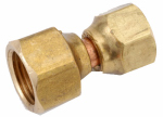 Anderson Metals 754075-0806 Pipe Fittings, Flare Swivel Connector, Lead-Free Brass, 1/2 x 3/8-In.