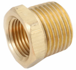 Anderson Metals 756110-0806 Pipe Fittings, Brass Hex Bushing, Lead-Free, 1/2 x 3/8-In.