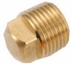 Anderson Metals 756109-02 Pipe Fitting, Square Head Plug, Lead-Free Brass, 1/8-In. MPT