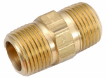 Anderson Metals 756122-06 Pipe Fitting, Hex Nipple, Lead-Free Brass, 3/8-In.