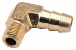 Anderson Metals 757020-0604 Pipe Fittings, Barb Insert Elbow, Brass, 3/8-In. Hose x 1/4-In. MPT