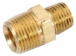 Anderson Metals 756123-0804 Pipe Fitting, Hex Reducing Nipple, Lead-Free Brass, 1/2 x 1/4-In.