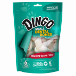 United Pet Group P-26017 Dog Dental Bone, Small White, 6-Pk.