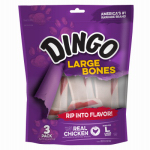 United Pet Group P-95008 Ding3PK LG Rawhide Bone