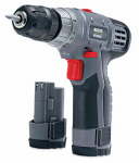 Jinding Group 134462 12-Volt Lithium-Ion Compact Cordless Drill, 3/8-Inch, With 2 Batteries