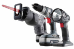 Jinding Group 134475 18-Volt Cordless Drill, Reciprocating Saw & Flashlight Set