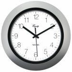La Crosse Technology 40222S 10-Inch Silver Self-Setting Analog Wall Clock