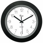 La Crosse Technology 40222B 10-Inch Black Self-Setting Analog Wall Clock