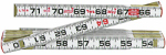 Apex Tool Group 966N Red End Two-Way Folding Rule, White Wood, 5/8-In. x 6-Ft.