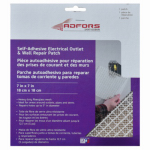 St Gobain Adfors America FDW6503-U Electrical Outlet & Wall Repair Patch, 7 x 7-In.