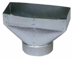 Imperial Mfg Group Usa GV0698-C 2-1/4 x 10 x 6-Inch Galvanized Universal Boot