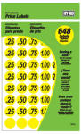 Hy-Ko Prod 30103 Garage Sale Price Stickers, Yellow, .75-In., 648-Pc.
