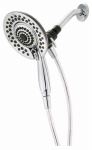 Delta Faucet 75583 2-In-1 Showerhead, 5-Spray, Handheld + Fixed Mount, Chrome