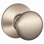 Schlage Lock F10VPLY619 Satin Nickel Plymouth Design Passage Lockset