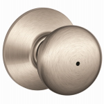 Schlage Lock F40VPLY619 Satin Nickel Plymouth Design Privacy Lockset