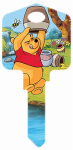 Hillman Fasteners 87628 Disney Winnie the Pooh-Hug Me Painted Key Blank