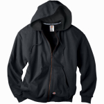 Williamson Dickie Mfg TW382BKM Thermal Fleece Jacket, Hooded, Black, Men's Medium