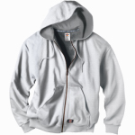 Williamson Dickie Mfg TW382AG2XL Thermal Fleece Jacket, Hooded, Gray, Men's XXL