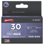 Arrow Fastener 304IP Tacker Wire Staples, 1/4-In., 5000-Pk.