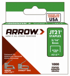 Arrow Fastener 215 Staples, JT-21, 5/16-In., 1000-Pk.