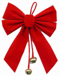 Impact Innovation-Import 3914TV14 Christmas Ornament, Bell With Bow, 8 x 10-In.