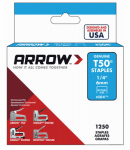 Arrow Fastener 50424 Staples, Narrow Crown, .25-In., 1250-Pk.