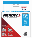 Arrow Fastener 50524 Staples, Narrow Crown, 5/16-In., 1250-Pk.