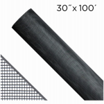 Saint Gobain Adfors FCS9166-M Aluminum Insect Window Screen, 30-Inch x 100-Ft., Black