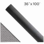 Saint Gobain Adfors FCS9180-M Aluminum Screen Cloth, Black, 36-In. x 100-Ft.