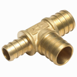 Sharkbite/Cash Acme UC444LFA10 10-Pack 3/4 x 1/2 x 3/4-Inch Brass Insert Tees