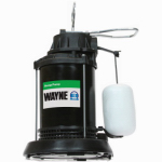 Wayne Water Systems SPF33 Submersible Sump Pump With Vertical Switch, Thermoplastic, 1/3-HP Motor