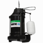 Wayne Water Systems CDU790 Submersible Sump Pump With Vertical Switch, Cast Iron , 1/3-HP Motor
