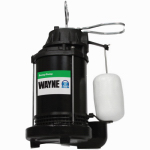 Wayne Water Systems CDU800 Submersible Sump Pump With Vertical Switch, Cast Iron , .5-HP Motor