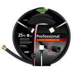 Teknor-Apex 137 885 Rubber Garden Hose, Black, 5/8-In. x 25-Ft.