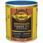 Cabot/Valspar 19459-05 Australian Timber Oil Wood Stain Finish, Mahogany Flame, Qt.