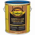 Cabot/Valspar 19458-07 Honey Teak Australian Timber Oil Wood Stain Finish, Gallon
