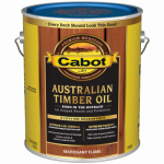 Cabot/Valspar 19459-07 Mahogany Flame Australian Timber Oil Wood Stain Finish, Gallon