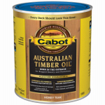 Cabot/Valspar 19458-05 Honey Teak Australian Timber Oil Wood Stain Finish, Qt.