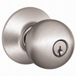 Schlage Lock F51A ORB 626 Orbit-Design Entry Lockset, Satin Chrome