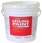 True Value Mfg CBW-2G Latex Ceiling Paint, Brite White Flat Latex, 2-Gals.